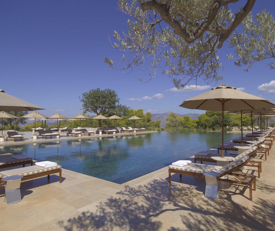 Luxusreise ins Amanzoe in Griechenland