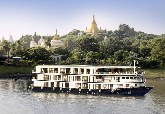 Flusskreuzfahrt Sanctuary Ananda, Flusskreuzfahrt Irrawaddy Myanmar, Erlebnisreise Myanmar, Flusskreuzfahrtschiff
